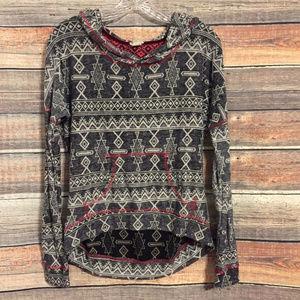 Gimmicks by BKE tribal hoodie sweater